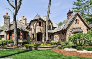 $3.5 Million Riverfront Stone Mansion In Naperville, IL With 3-Story Indoor Pool