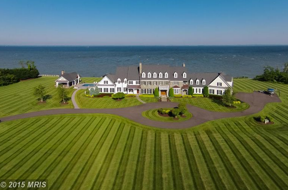 Sunset Bay Manor – A 14,000 Square Foot Waterfront Colonial Mansion In Stevensville, MD