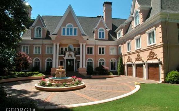 $3 Million Stately 3-Story Lakefront Mansion In Sandy Springs, GA