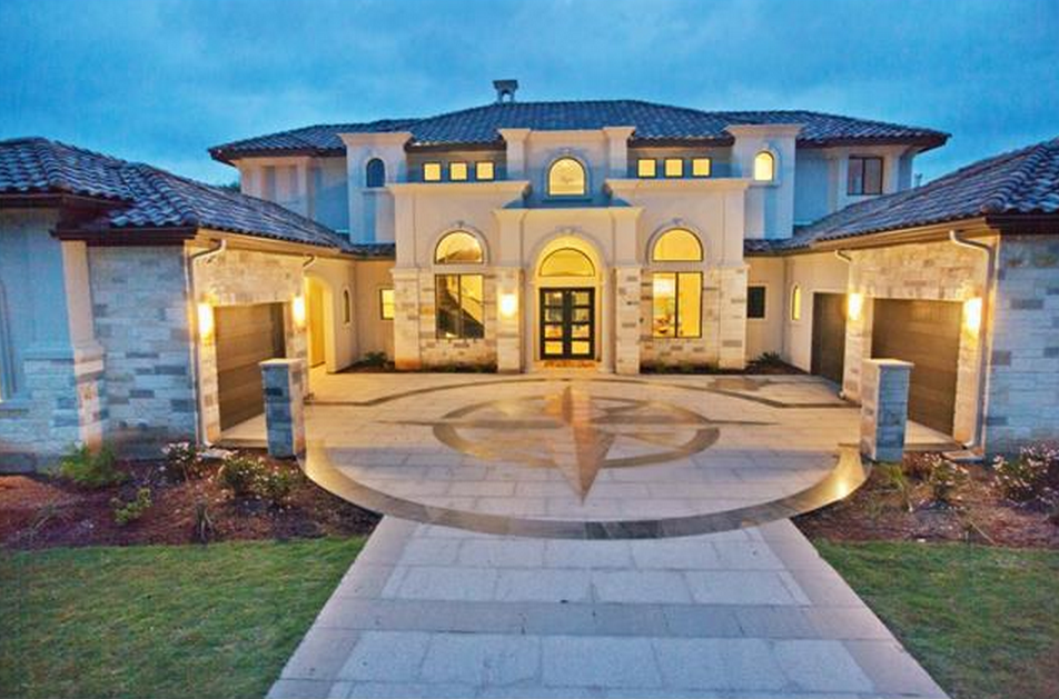 Stone And Stucco Homes Texas : Million newly built stone stucco home in austin