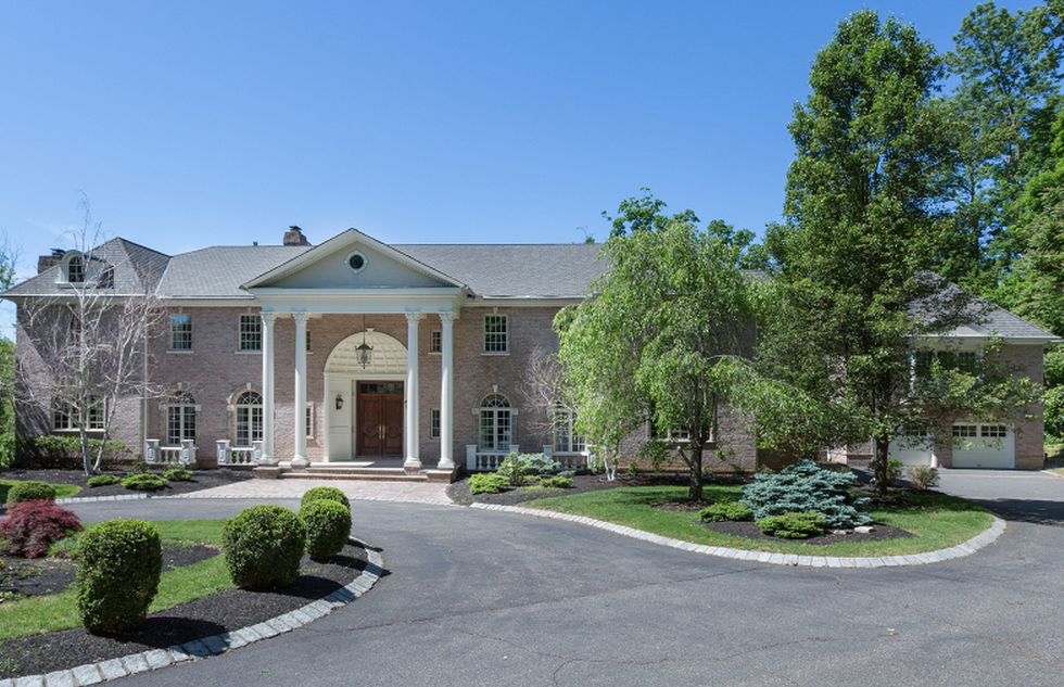 10,000 Square Foot Colonial Mansion In Bernards Township, NJ