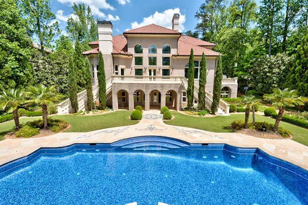 16 000 Square Foot Mediterranean Mansion In Marietta Ga