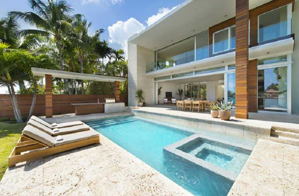 Newly Built Modern Waterfront Home In Miami Beach Fl