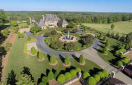 16,000 Square Foot French Inspired Stone Mansion In Rougemont, NC