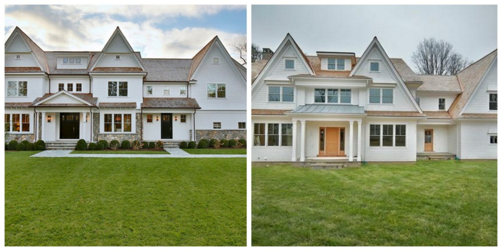Two 3 million newly built colonial shingle homes in for Houses for sale westport