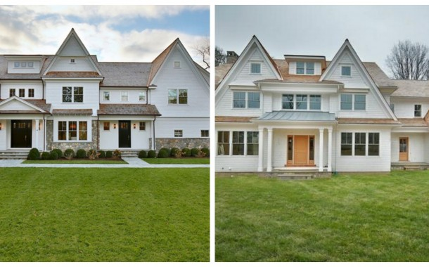 Two $3 Million Newly Built Colonial Shingle Homes In Westport, CT