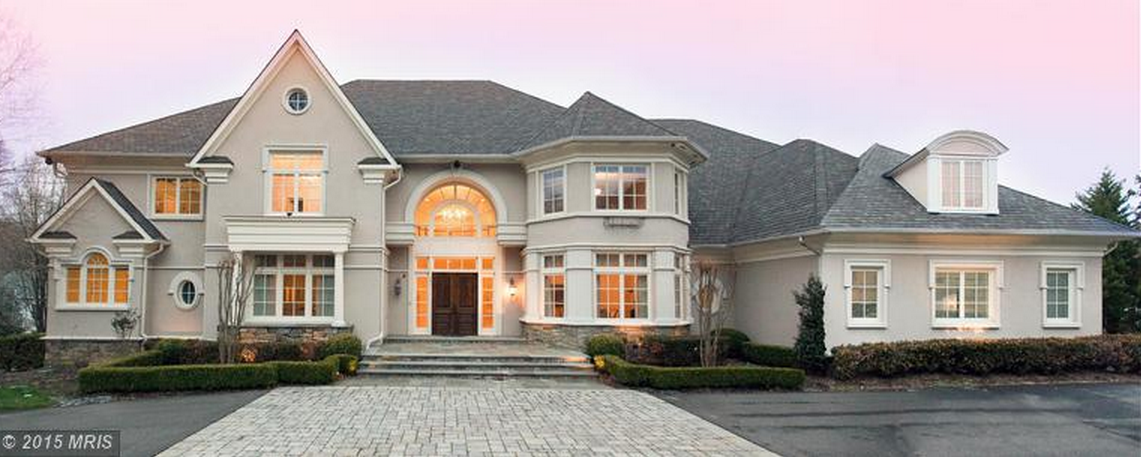 17,000 Square Foot Stucco Mansion In McLean, VA