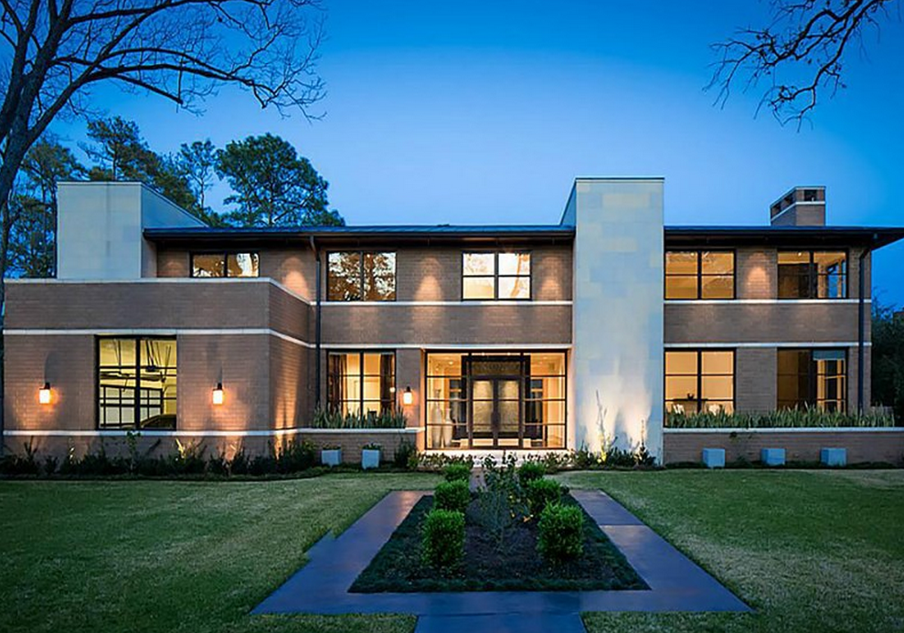 Million contemporary home in piney point tx for Contemporary homes houston