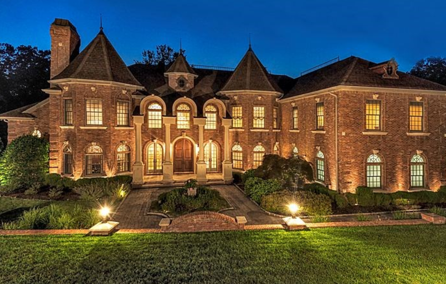 12 000 Square Foot Stately Brick Mansion In Franklin Lakes