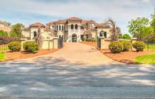 $3.95 Million Mediterranean Waterfront Mansion In Cornelius, NC