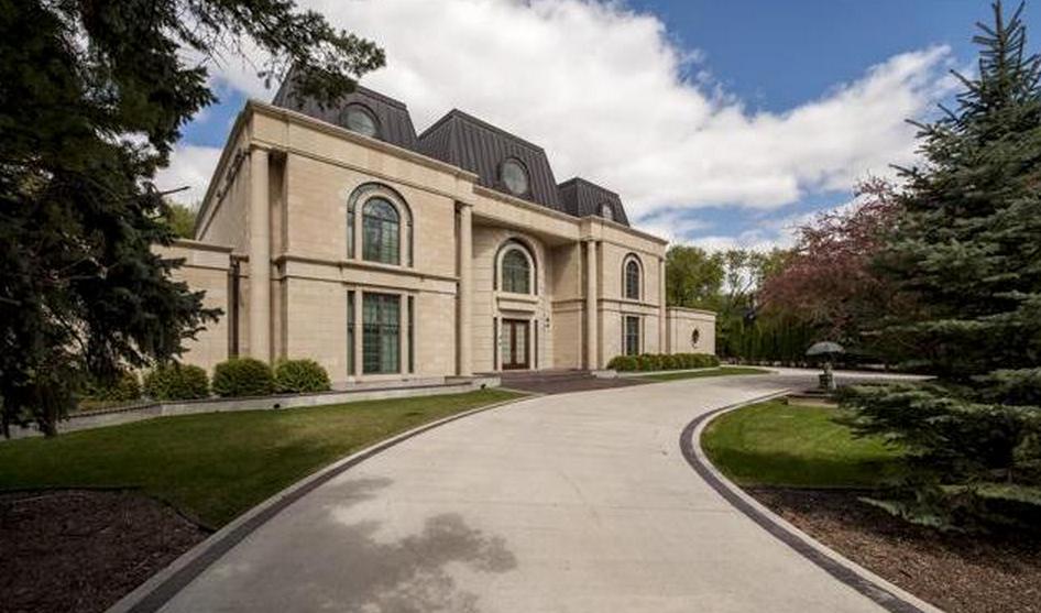 23,000 Square Foot Riverfront Mansion In Manitoba, Canada