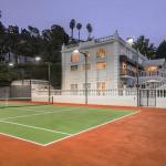 Rear Exterior & Tennis Court