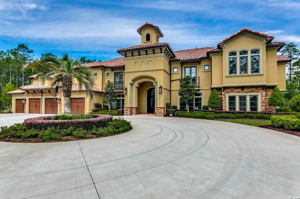 11 000 Square Foot Newly Built Mediterranean Mansion In Myrtle Beach Sc Homes Of The Rich