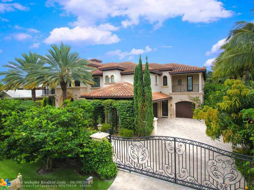 $6.9 Million Mediterranean Waterfront Home In Fort Lauderdale, FL