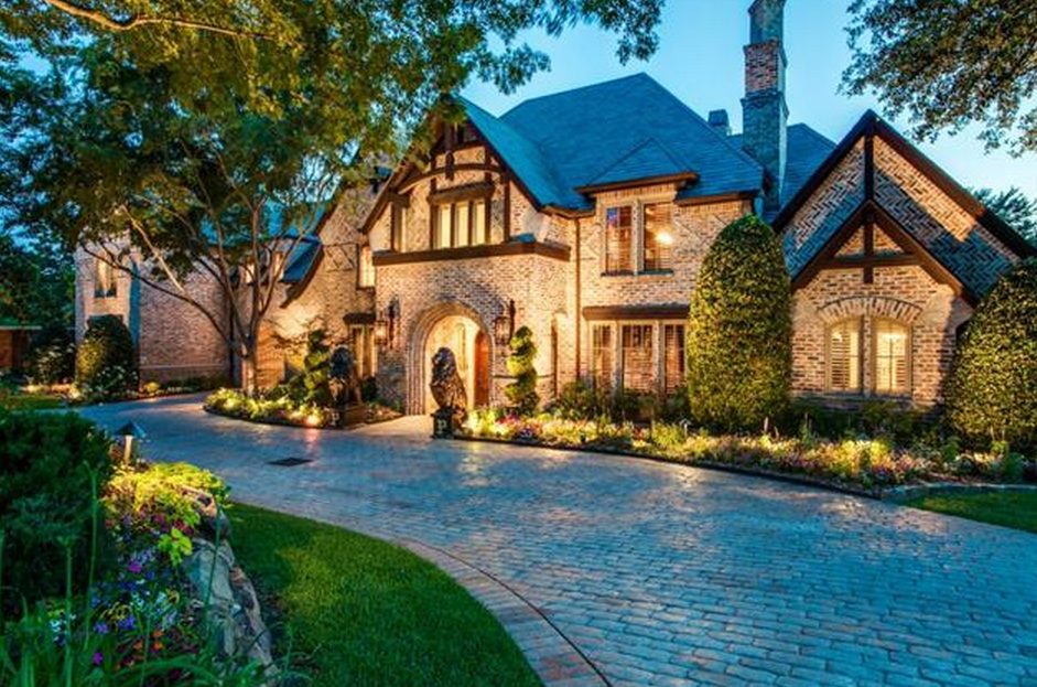 English Tudor Style Brick Mansion In Frisco Tx Homes Of