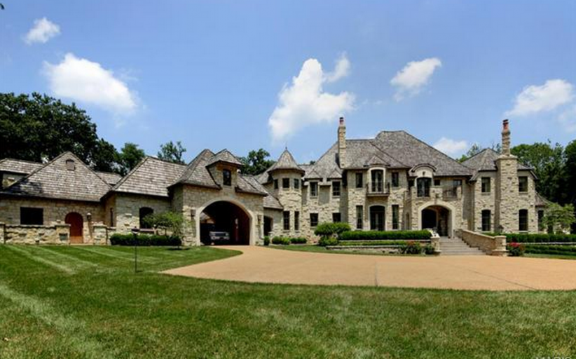15,000 Square Foot Stone Mansion In Ladue, MO