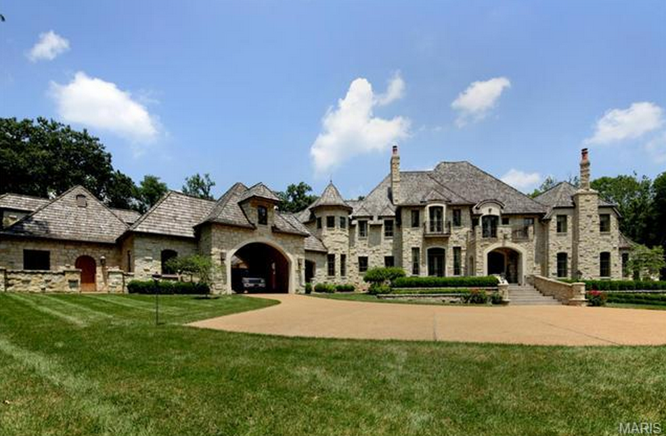 15 000 square foot stone mansion in ladue mo homes of for Home builders in missouri