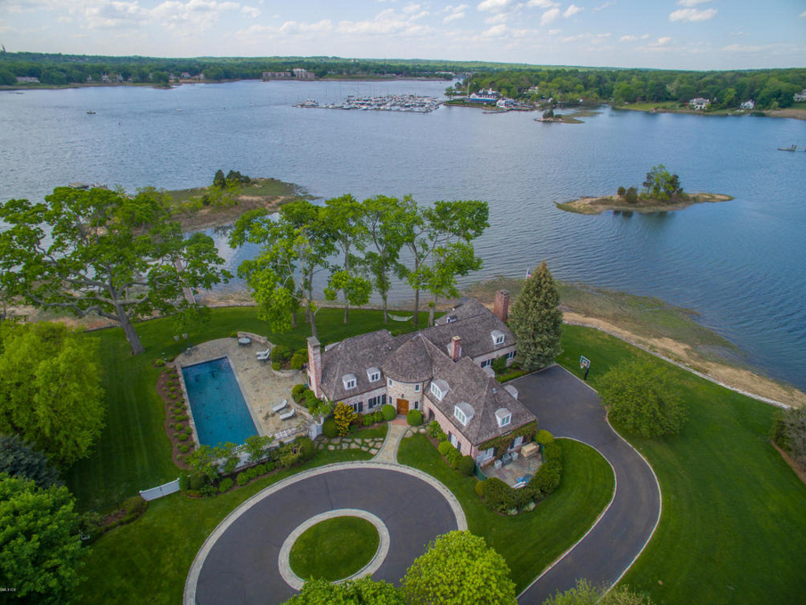 $10.995 Million French Inspired Waterfront Home In Riverside, CT