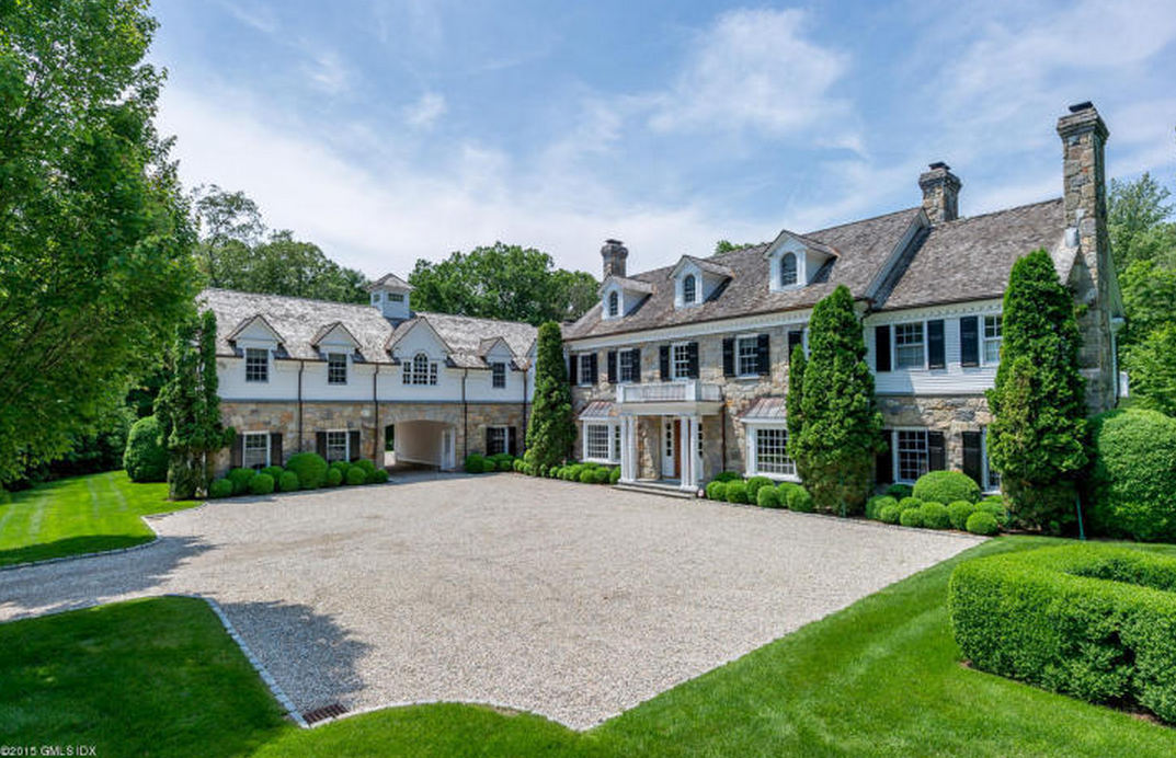 7 8 million georgian colonial mansion in greenwich ct for Connecticut home builders