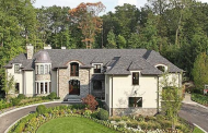 $4.9 Million Stone & Stucco Mansion In Tenafly, NJ
