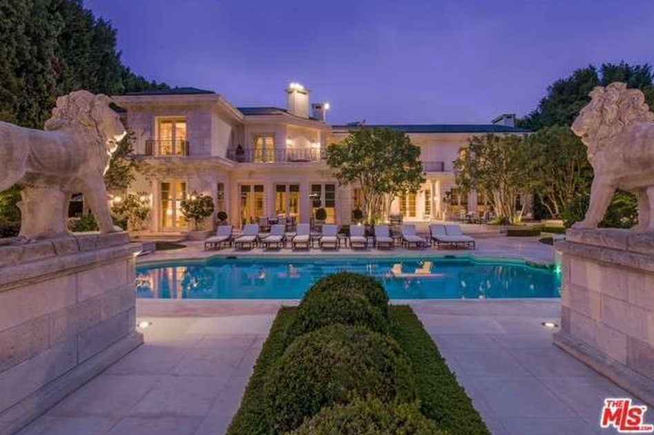 39 5 million 20 000 square foot mediterranean mansion in - 5 bedroom house for sale los angeles ...