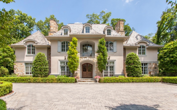 10,000 Square Foot French Inspired Mansion In Alpine, NJ