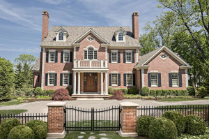 4 6 million georgian colonial brick mansion in ridgefield for Georgian style homes for sale