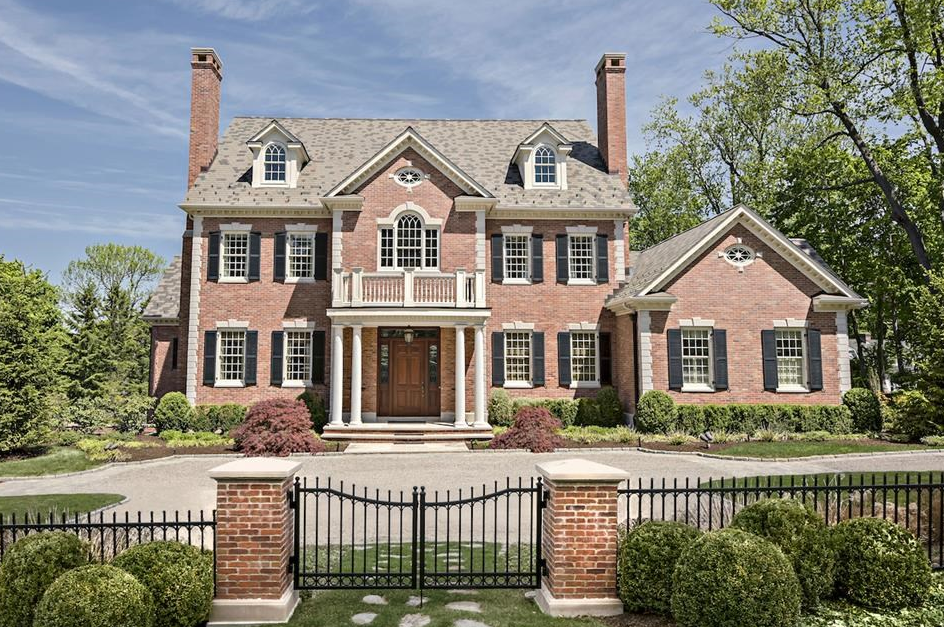 $4.6 Million Georgian Colonial Brick Mansion In Ridgefield, CT