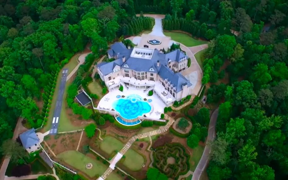 Video Of Tyler Perry's $25 Million 34,000 Square Foot Atlanta Mega Mansion!
