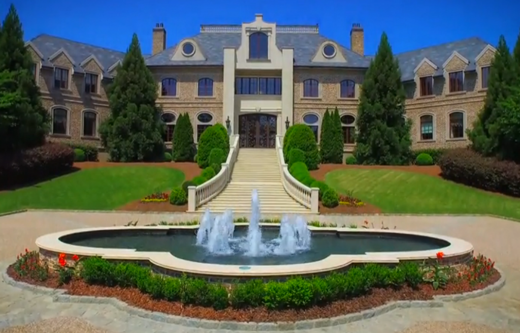 Some stills from the video of tyler perry s 25 million for Mega mansion for sale
