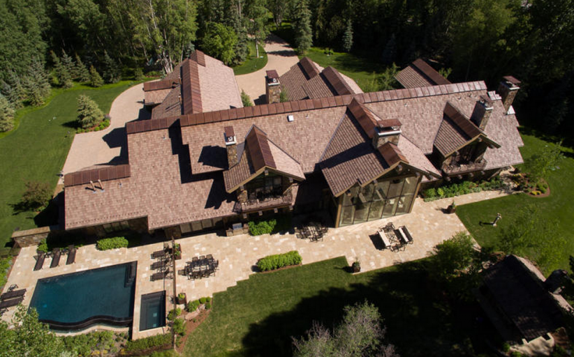 $20 Million 15,000 Square Foot Stone/Rock Mansion In Ketchum, ID