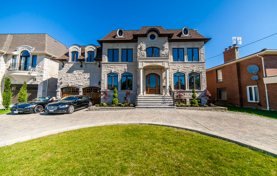 Newly Built Stone & Brick Mansion In Ontario, Canada