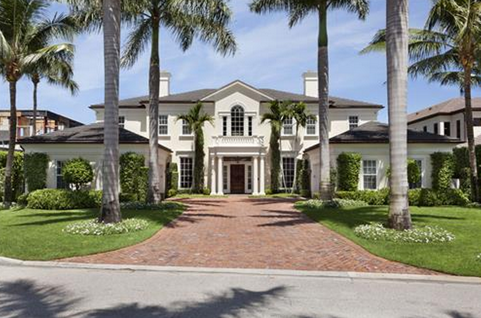 118 Million Georgian Style Waterfront Mansion In Boca