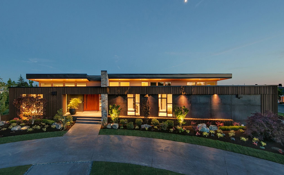 $6.288 Million Newly Built Contemporary Home In Clyde Hill, WA