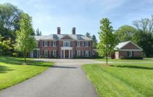 $4.395 Million Georgian Style Brick Mansion In Far Hills, NJ