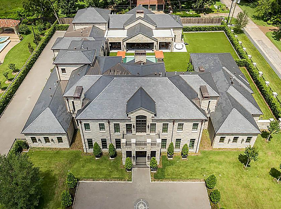 $15 Million Newly Built 17,500 Square Foot Stone Mansion In Houston, TX
