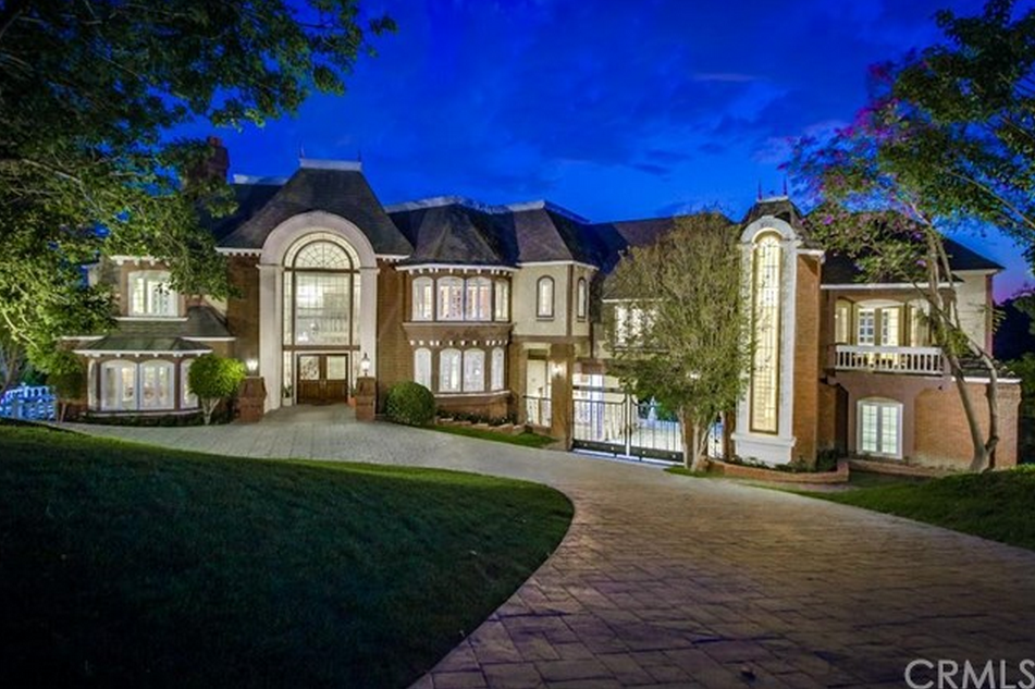 14,000 Square Foot French Inspired Brick Mansion In Diamond Bar, CA