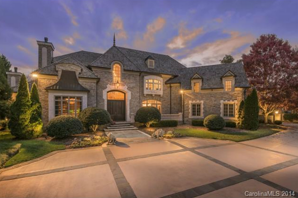 14 000 square foot european inspired stone mansion in for The charlotte house