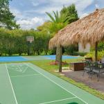 Shuffle Board & Tiki Hut & Basketball Court