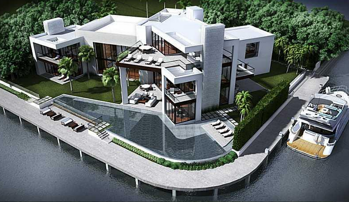 $19.995 Million Contemporary Waterfront Mansion Under Construction In Fort Lauderdale, FL