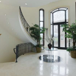 2-sory Foyer w/ Double Staircase