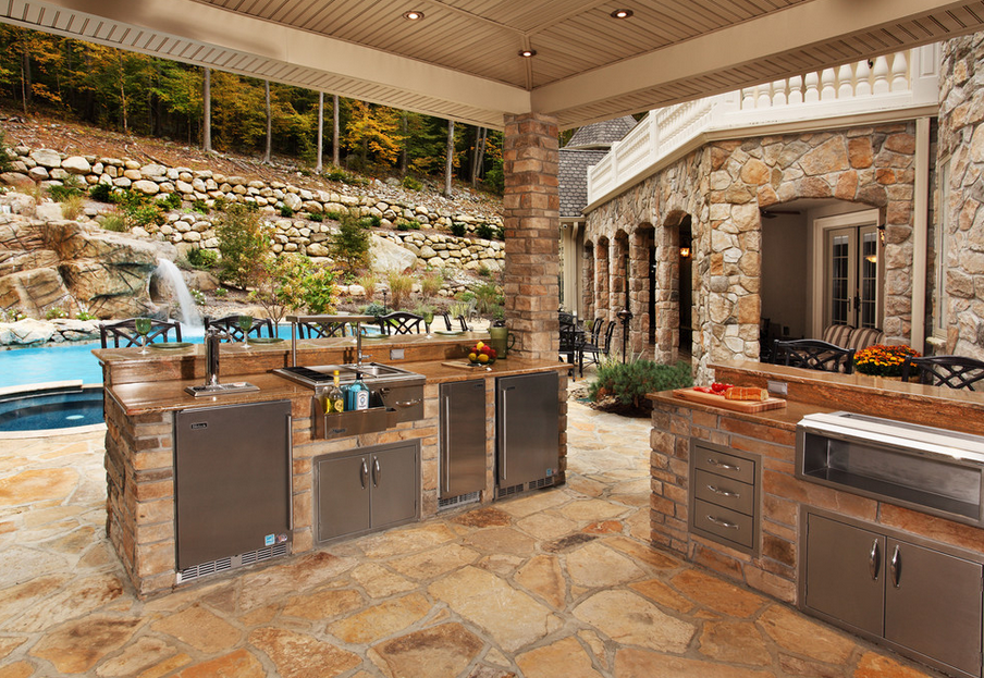 12 Covered Outdoor Kitchens Perfect For Summer