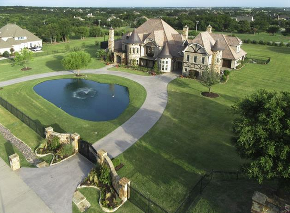 10 000 square foot french tudor mansion in prosper tx for 10000 square feet to acres