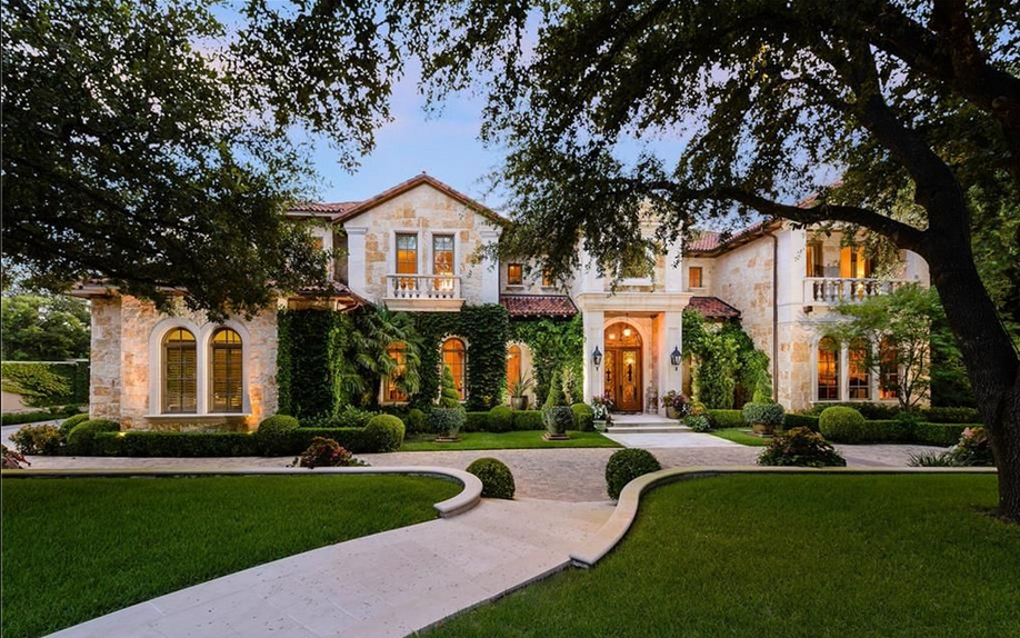 11 000 square foot mediterranean mansion in dallas tx for Mansions in dallas tx