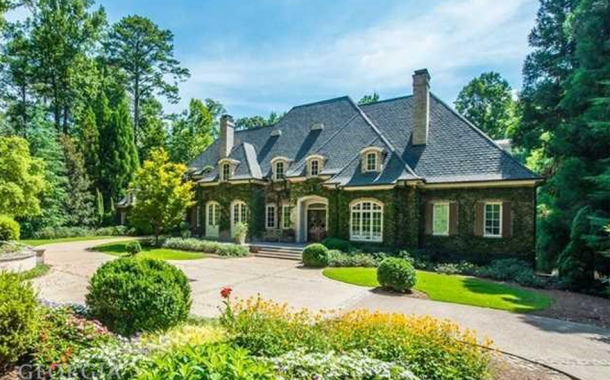11,000 Square Foot European Inspired Brick Mansion In Atlanta, GA