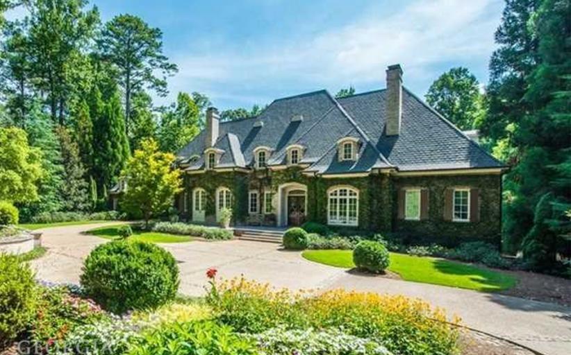 11,000 Square Foot European Inspired Brick Mansion In Atlanta, GA