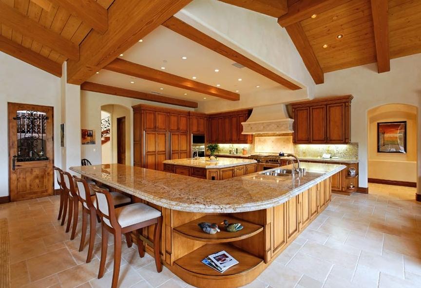 11 000 square foot tuscan inspired mansion in rancho santa for Santa fe kitchen