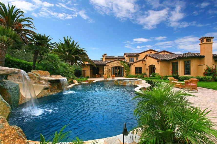 11,000 Square Foot Tuscan Inspired Mansion In Rancho Santa Fe, CA