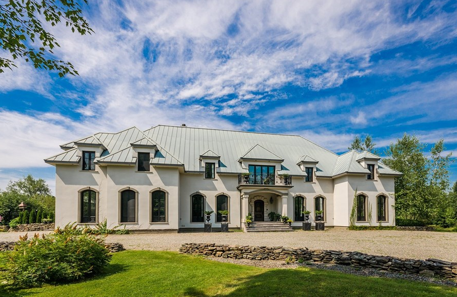 Chateau Tamarkand – A 10,000 Square Foot Waterfront Mansion In Quebec, Canada