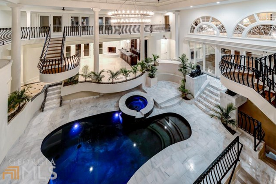 Mansions With Indoor Pools $2.9 million mansion in atlanta, ga with 2-story indoor swimming